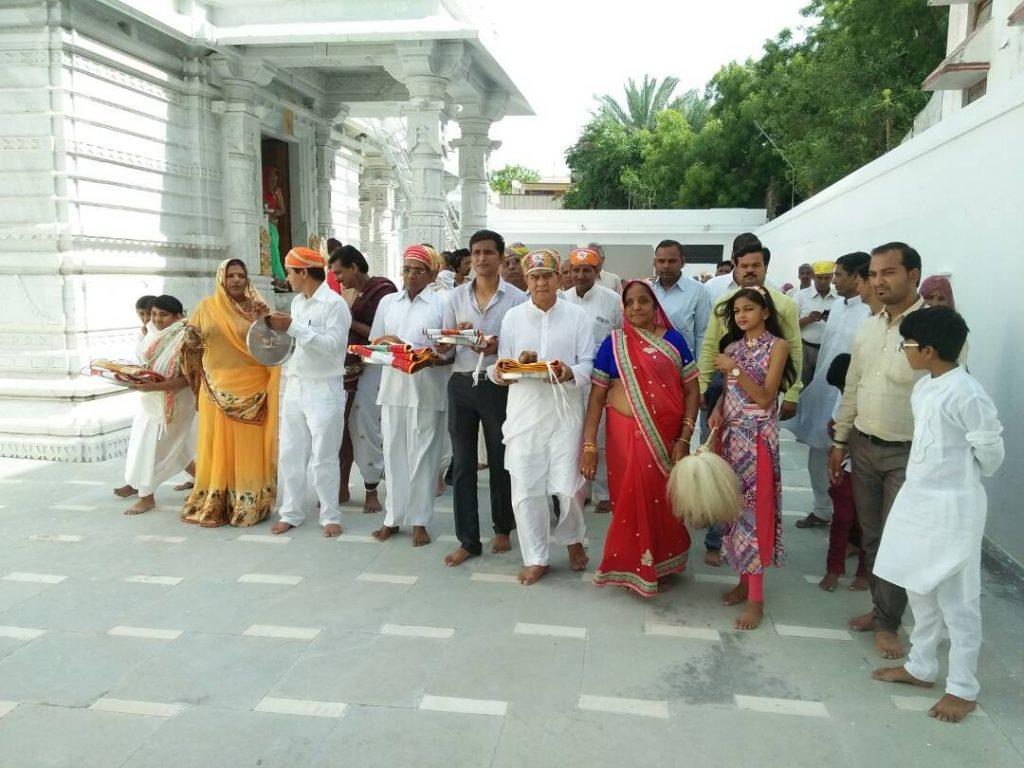 जैन श्री संघ खमनोर ने मनाया ध्वजा महोत्सव