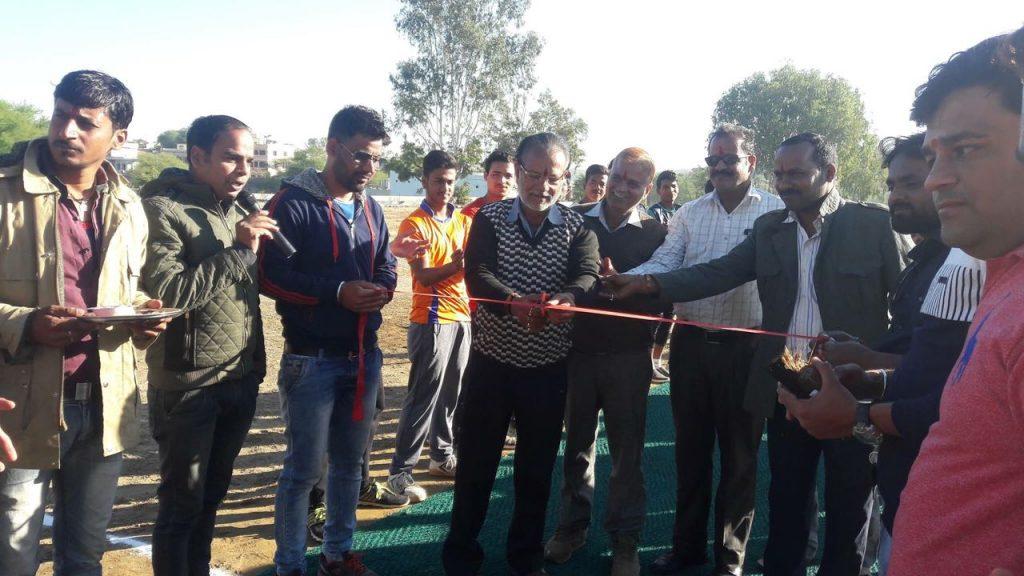 गांवगुडा में सियाराम क्रिकेट कप प्रतियोगिता का शुभारंभ