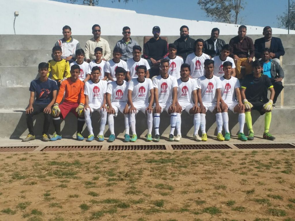 राष्ट्रीय फुटबाल प्रतियोगिता में भाग लेने हिमाचल प्रदेश जायेगी 17 वर्ष आयु वर्ग टीम –  पालीवाल ने दी बधाई