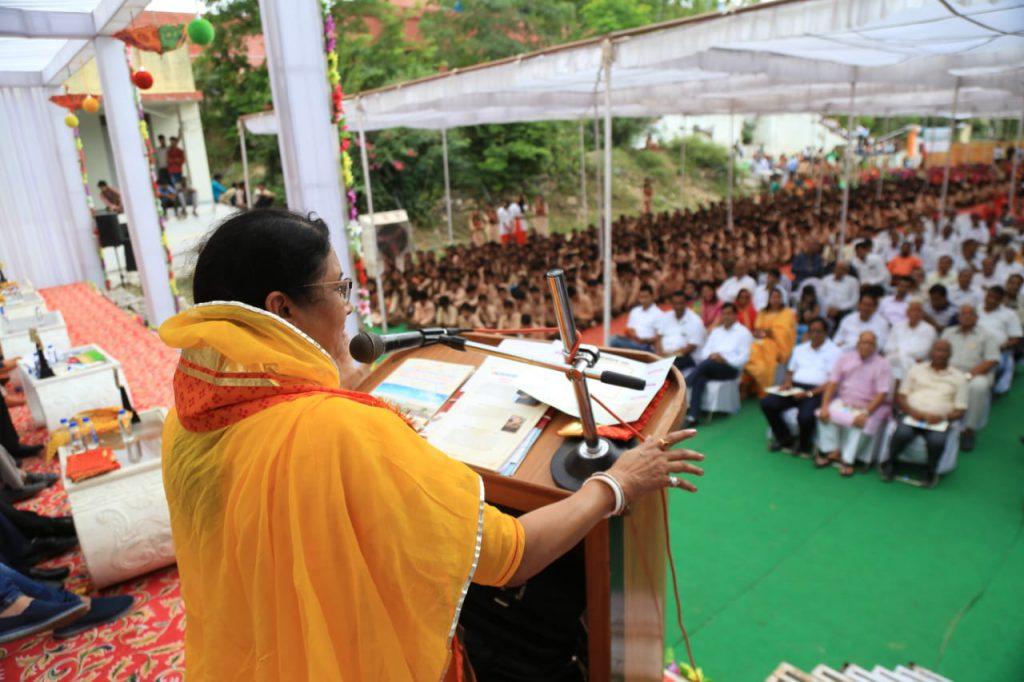 उच्च शिक्षा मंत्री ने शिशोदा में 8 करोड़ की लागत से बनने वाले विद्यालय का शिलान्यास किया~  शैक्षिक विकास में राजस्थान अव्वल पायदान पर – किरण माहेश्वरी