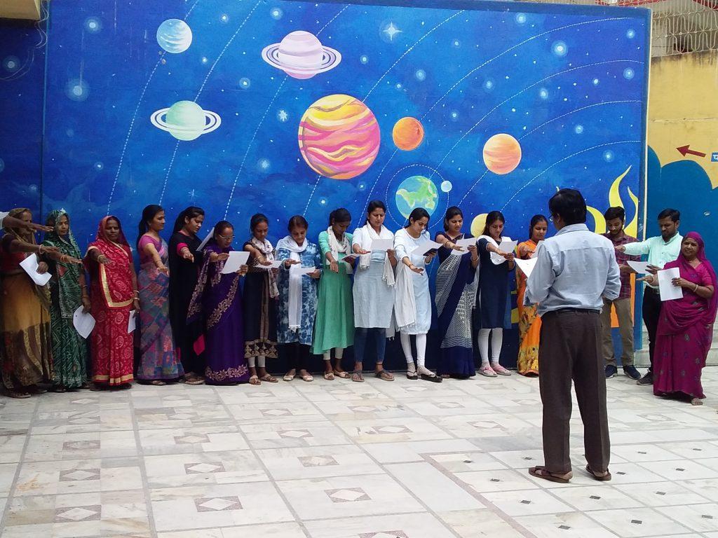 जीवीएम के शिक्षकों ने ली मतदान की शपथ