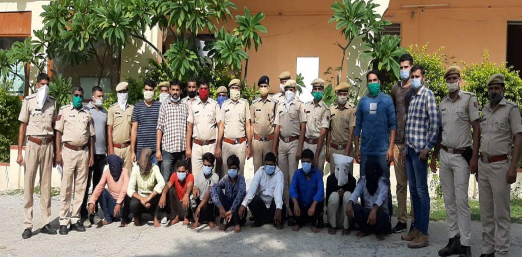 लोहे के सरिए से भरा ट्रेलर लूटने और ड्राइवर को अगवा करने वाले नौ बदमाशों को पुलिस ने किया गिरफ्तार