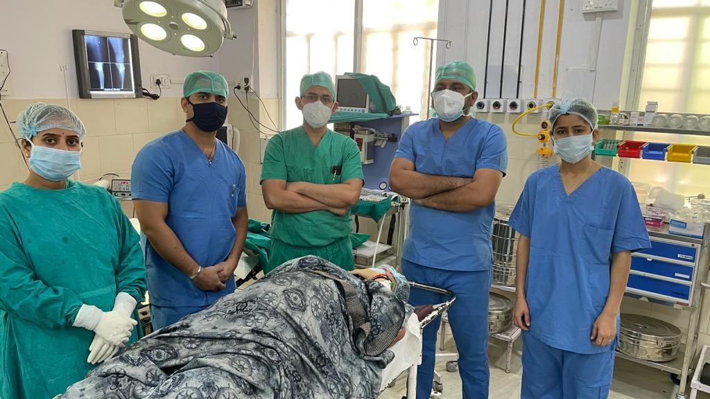 नाथद्वारा सामान्य चिकित्सालय में हुआ घुटने का प्रथम सफल प्रत्यारोपण