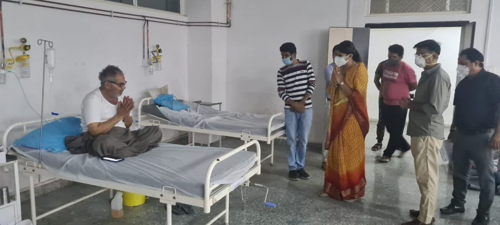 विधायक दीप्ति माहेश्वरी ने अनन्ता के कोविड वार्ड का किया निरीक्षण