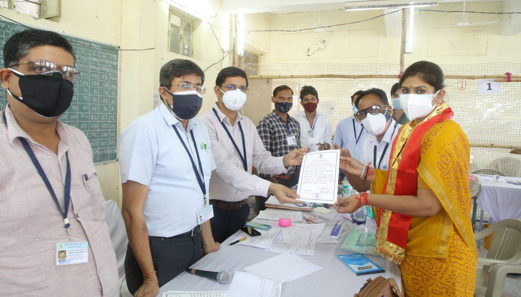 राजसमन्द उपचुनाव में भारतीय जनता पार्टी से दीप्ति किरण माहेश्वरी निर्वाचित